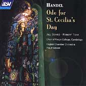 Handel: Ode for St Cecilia's Day / Ledger, Gomez, Tear