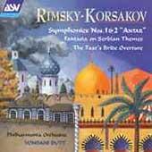 Rimsky-Korsakov: Symphonies 1 & 2, etc / Butt, Philharmonia