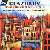 Glazunov: Symphonies no 4 & 5 / Butt, Philharmonia Orchestra
