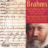 Brahms: Symphony no 2 & 4 / Damrosch, Abendroth, et al
