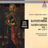 Bach: Sacred Cantatas Vol 1 / Harnoncourt, Leonhardt
