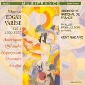 Varese: Works Vol 1 (1920-1927) / Kent Nagano