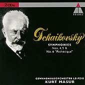 Tchaikovsky: Symphonies 4-6 / Masur, Leipzig Gewandhaus