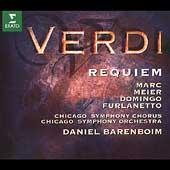 Verdi: Requiem / Barenboim, Marc, Meier, Domingo, Furlanetto