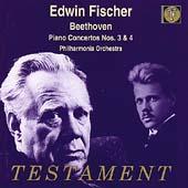 Beethoven: Piano Concertos 3 & 4 / Fischer, Philharmonia