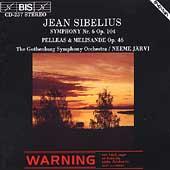 Sibelius: Symphony no 6, etc / Jaervi, Gothenburg Symphony