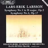 Larsson: Symphonies no 1 & 2 / Frank, Helsingborg SO