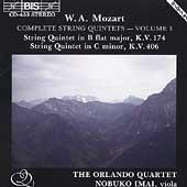 Mozart: String Quintets, Vol 3 / Orlando Quartet, N Imai