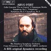 Paert: Symphonies 1-3, etc / Jaervi, Bamberg SO