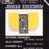 Kokkonen: Cello Concerto, etc / Thedeen, Vaenskae, Lahti SO