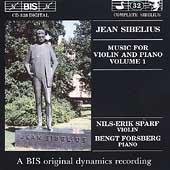 Sibelius: Music for Violin & Piano Vol 1 / Sparf, Forsberg