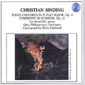 Sinding: Symphony no 1, Piano Concerto no 1 / Fjelstad