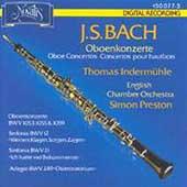 Bach: Oboe Concertos / Indermuehle, Preston, English CO