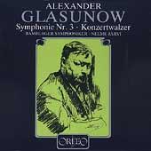 Glasunow: Symphony No.3, Concert Waltz No.2 in F Major Op.51, etc / Neeme Jarvi(cond), Bamberg Symphony Orchestra, etc