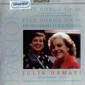 Bartok: Songs / Hamari, Prunyi, Kovacs