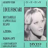 Verdi: I Due Foscari / Zedda, Cappuccilli, Scano, Guggia