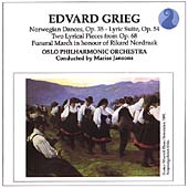 Grieg: Norwegian Dances, Lyric Suite, etc / Jansons, Oslo PO