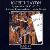 Haydn: Symphonien no 47, 62, 75 / Sieghart, Stuttgart CO