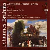 Brahms: Complete Piano Trios Vol 1 / Trio Parnassus