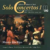 Bach: Solo Concertos Vol 1 / Musica Alta Ripa