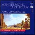 MENDELSSOHN:PIANO CONCERTOS NO.1 OP.25/NO.2 OP.40/PIANO MUSIC :ELISABETH LEONSKAJA(p)/ILAN VOLKOV(cond)/CAMERATA SALZBURG