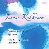 J.Kokkonen: Symphonies No.1, No.2, Opus Sonorum (3-5/2008) / Sakari Oramo(cond), Finnish Radio Symphony Orchestra