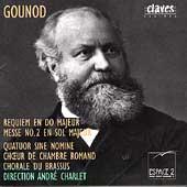 Gounod: Requiem en Do Majeur, Messe no 2 / Andre Charlet et al