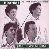 Brahms: Three String Quartets / Quartet Sine Nomine