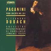 Paganini: Violin Concertos no 3 & 6 / Dubach, Foster, et al