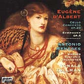 D'Albert: Cello Concerto, Symphony Op. 4 / Meneses, Zollman