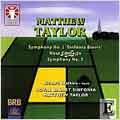 "M.TAYLOR:SYMPHONY NO.1 OP.2 ""SINFONIA BREVIS""/NO.3 OP.33/HORN CONCERTO OP.23:MATTHEW TAYLOR(cond)/ROYAL BALLET SINFONIA/ETC"