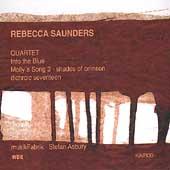 Saunders: Quartet, Into the Blue, etc / Asbury, Musikfabrik