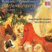 Harfenkonzerte - Boieldieu: Concerto for Harp in C major, Ginastera: Concerto for Harp, Op. 25 - / Jutta Zoff, Siegfried Kurz