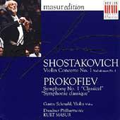 Masur Edition - Shostakovich: Violin Concerto 1;  Prokofiev
