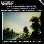 Mendelssohn: Complete String Symphonies Vol 2 / Lev Markiz