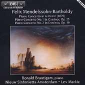 Mendelssohn-Bartholdy: Piano Concertos / Brautigam, Markiz