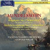Mendelssohn: Symphony no 3, etc / Leopold Hager, English CO