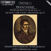 Danzi: Wind Quintets Vol 3 /Berlin Philharmonic Wind Quintet