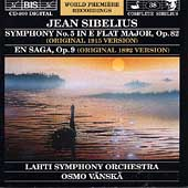 Sibelius: Symphony no 5, En Saga / Vaenskae, Lahti SO
