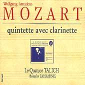 Mozart: Clarinet Quintet, etc / Zahradnik, Talich Quartet