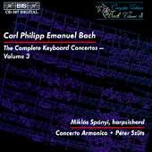 C.P.E. Bach: Complete Keyboard Concertos Vol 3 / Spanyi