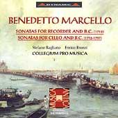 Marcello: Sonatas for Recorder, Sonatas for Cello / Bagliano