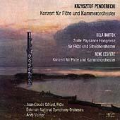 Penderecki, Eespere: Flute Concertos; Bartok /Gerard, Volmer