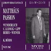 Bach: St. Matthew Passion / Bohm, Wunderlich, et al