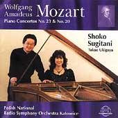 Mozart: Piano Concertos no 23 & 20 / Sugitani, Ukigaya