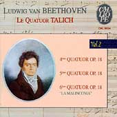 Beethoven: String Quartets Vol 2 - Op 18 no 4-6 / Talich