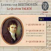 Beethoven: String Quartets Vol 1 - Op 18 no 1-3 / Talich