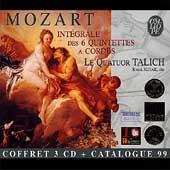 Mozart: Integrale des 6 Quintettes a Cordes / Talich, et al