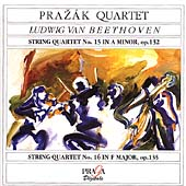Beethoven: String Quartets no 15 and 16 / Prazak Quartet
