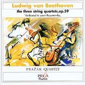 Beethoven: Three String Quartets Op 59 / Prazak Quartet
